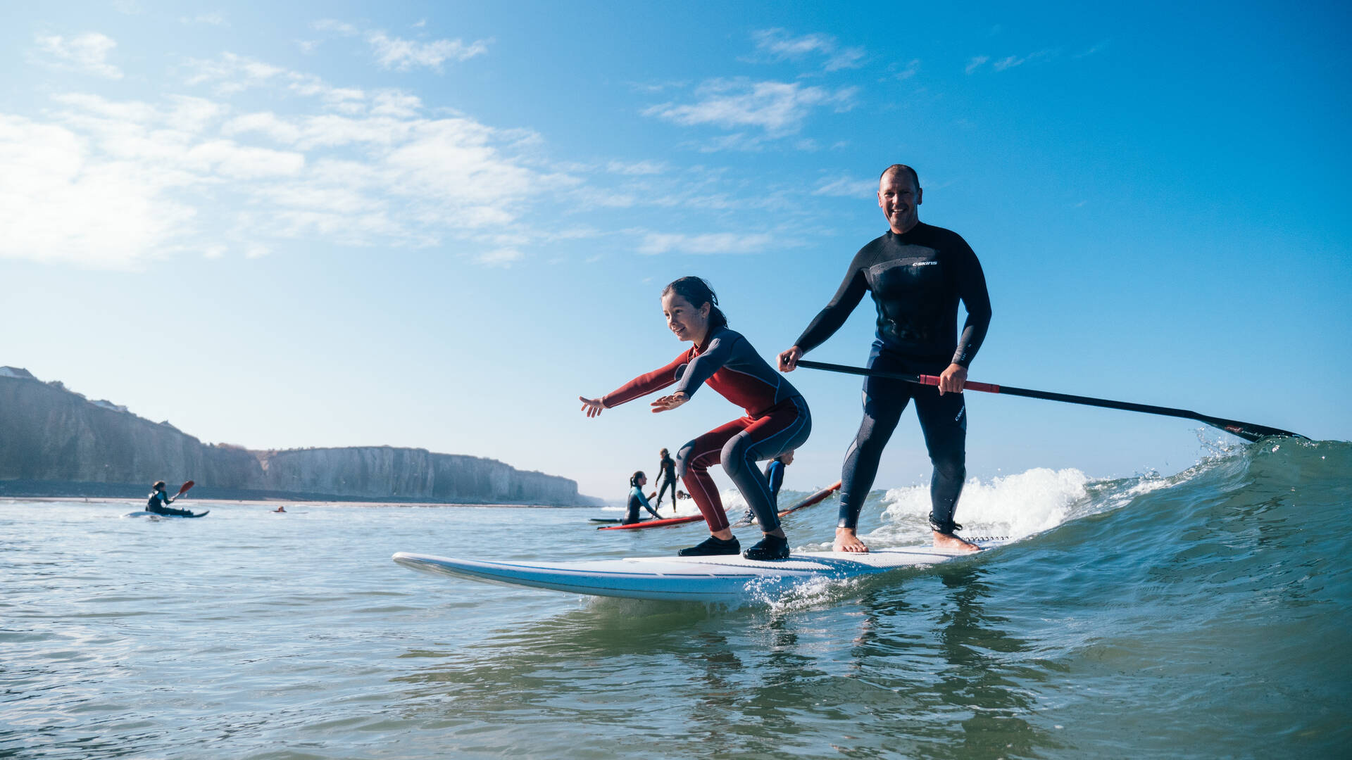 Le stand-up paddle version surf